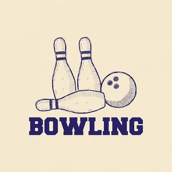 Koncepcja projektowania logo bowling