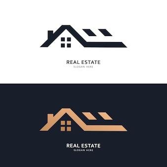 Koncepcja projektowania logo i ikony nieruchomości