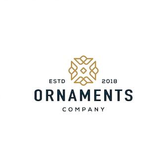 Koncepcja projektowania logo ornament. luksusowy i elegancki styl.