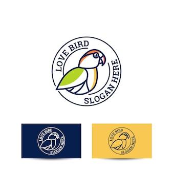 Koncepcja projektowania logo ptaka miłości