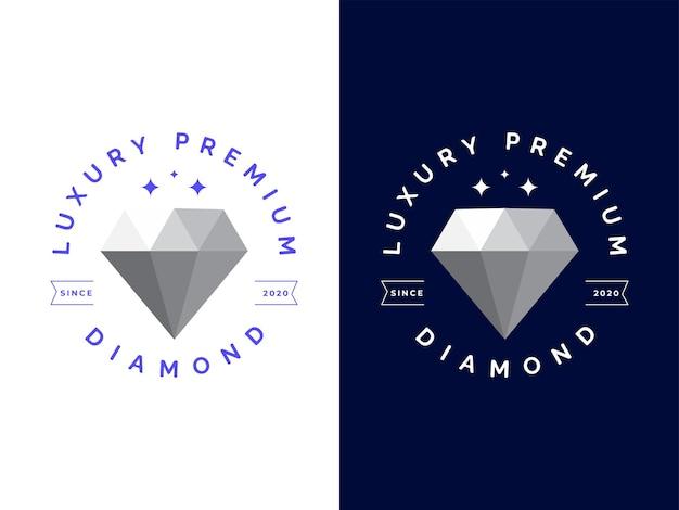 Koncepcja projektowania luksusowego diamentowego logo