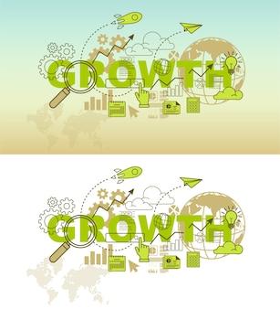 Koncepcja projektu baner strony internetowej wzrostu