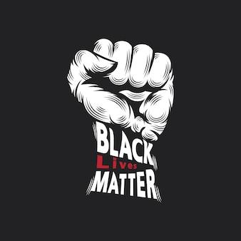 Koncepcja projektu czarnego życia dziurkacza i literówki