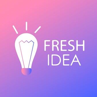 Koncepcja projektu pomysłu. kreatywny pomysł. strona projektu logo. płaska ilustracja wektorowa