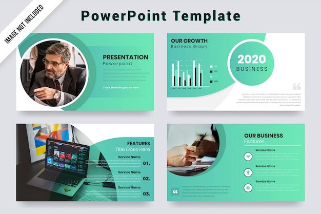 Koncepcja projektu rocznej prezentacji biznesowych z elementami infographic.