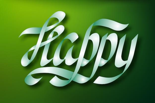 Koncepcja projektu typograficznego napisu z elegancką kaligrafią