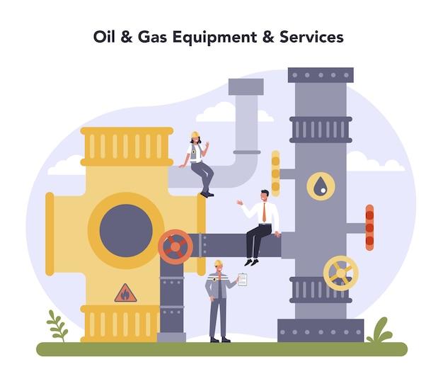 Koncepcja przemysłu ropy i gazu.