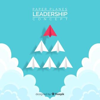 Koncepcja przywództwa i papierowych samolotów