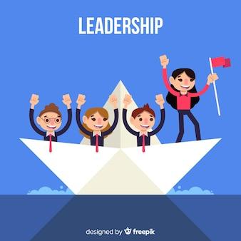Koncepcja przywództwa w stylu płaski