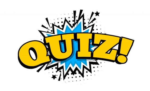 Koncepcja quizu. słowo quizu. ilustracja