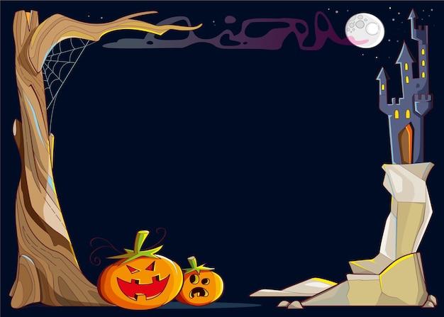 Koncepcja ramy halloween