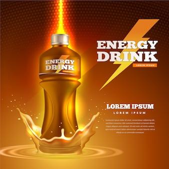 Koncepcja reklamy napojów reklamowych