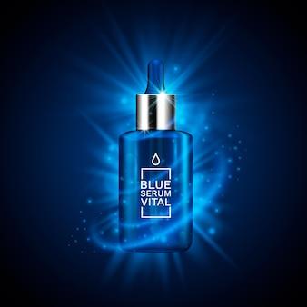 Koncepcja reklamy produktu kosmetycznego na kosmetyki. ilustracja wektorowa