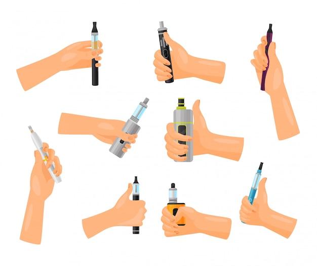 Koncepcja reklamy vape. technologia palenia i odparowywania.
