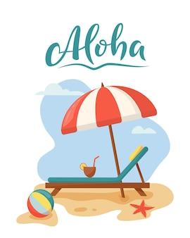 Koncepcja relaksu podróży i wakacji na plaży latem