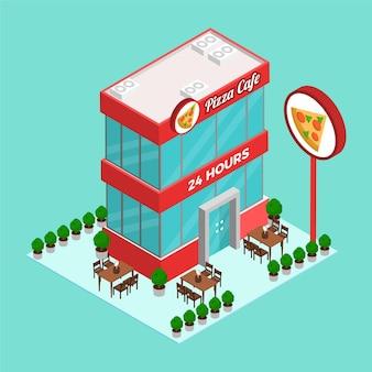 Koncepcja restauracji izometryczny