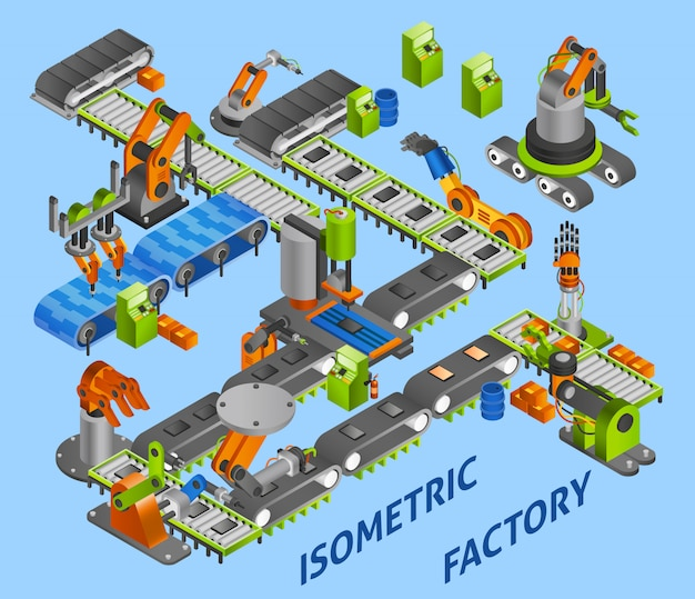 Koncepcja robot przemysłowy