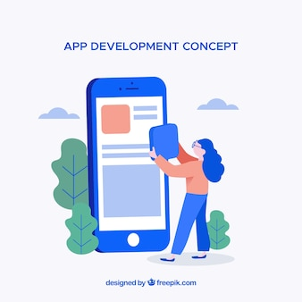 Koncepcja rozwoju aplikacji o płaskiej konstrukcji