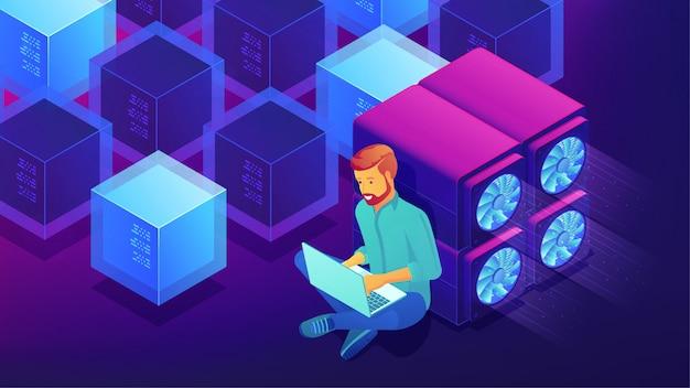 Koncepcja rozwoju izometrycznego blockchain.