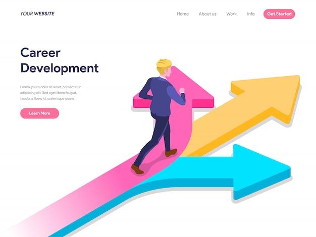 Koncepcja rozwoju kariery dla strony docelowej, interfejsu użytkownika, strony internetowej, strony głównej, banera