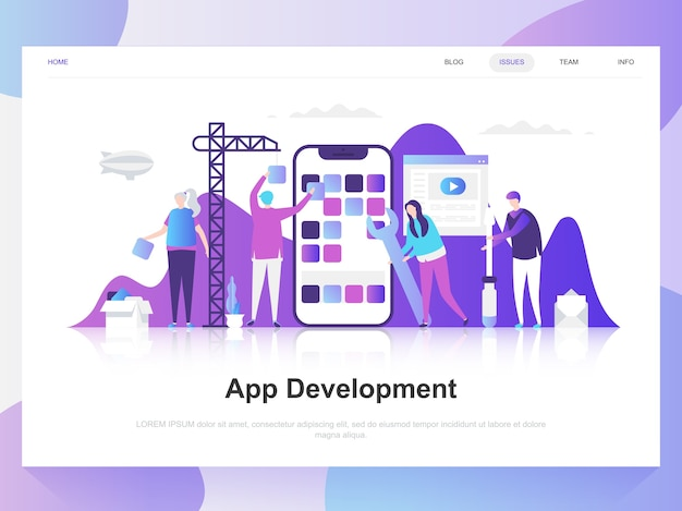 Koncepcja rozwoju nowoczesny projekt aplikacji.