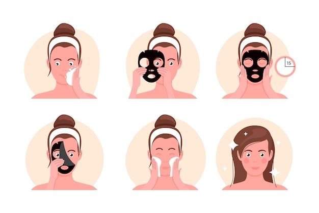 Koncepcja rutynowej maski w płachcie