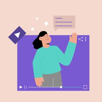 Koncepcja samouczka wideo online