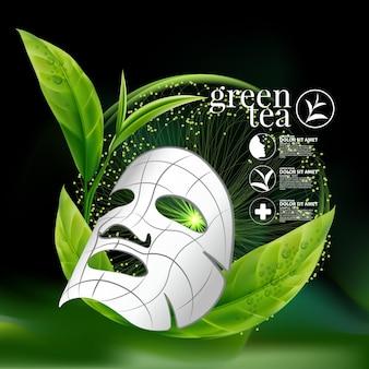 Koncepcja serum z zieloną herbatą