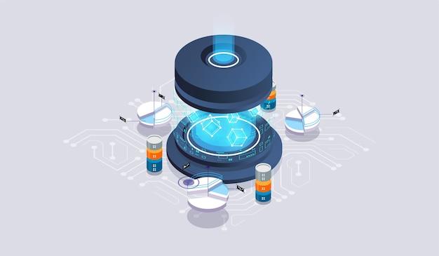 Koncepcja serwerowni centrum danych