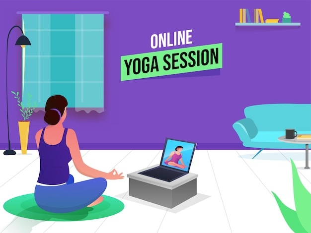 Koncepcja sesji jogi online