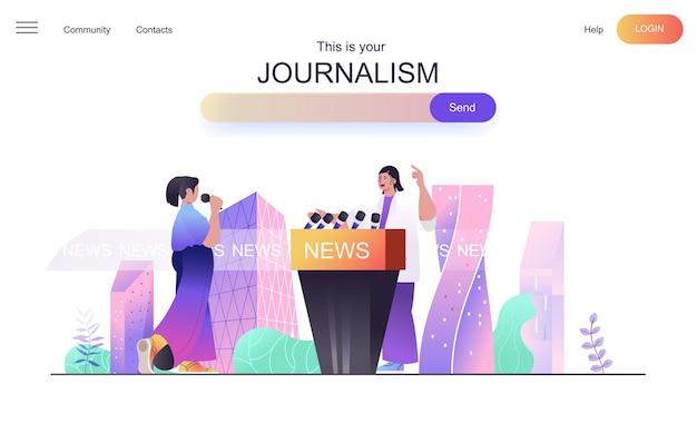Koncepcja sieci dziennikarskiej dla strony docelowej