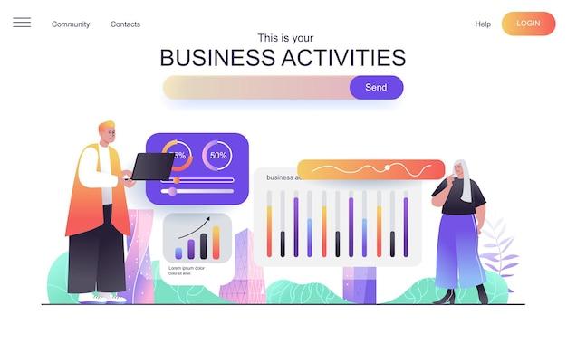 Koncepcja sieciowa działalności biznesowej dla strony docelowej
