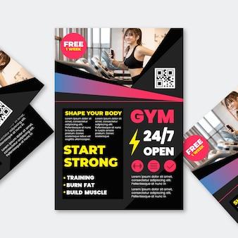 Koncepcja siłowni sport broszura