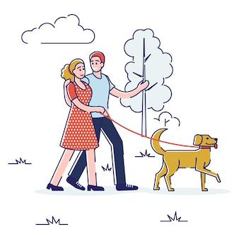 Koncepcja spędzania wolnego czasu. szczęśliwi ludzie prowadzą zdrowy tryb życia i dobrze się razem bawią.