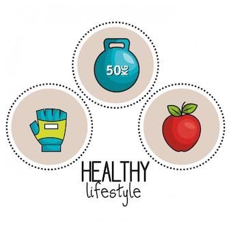 Koncepcja sportu siłownia zdrowego stylu życia