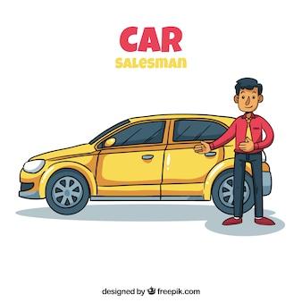 Koncepcja sprzedawca samochodów