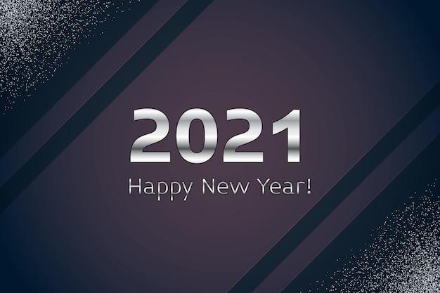 Koncepcja srebrny nowy rok 2021