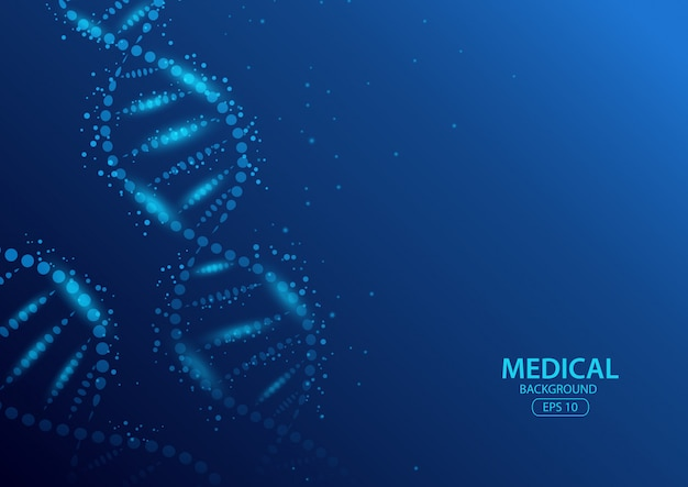 Koncepcja streszczenie tło medyczne. ilustracja