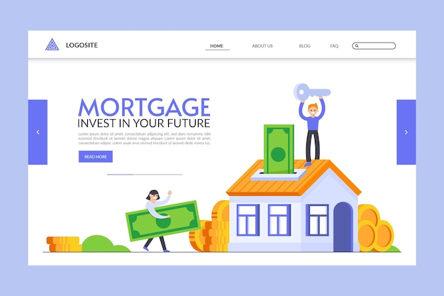 Koncepcja strony docelowej kredytu hipotecznego