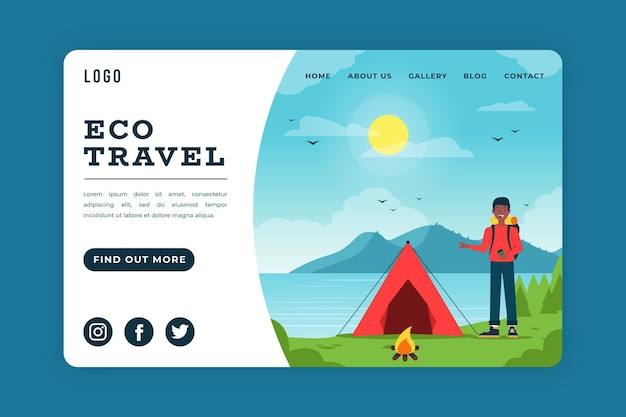 Koncepcja strony docelowej turystyki ekologicznej