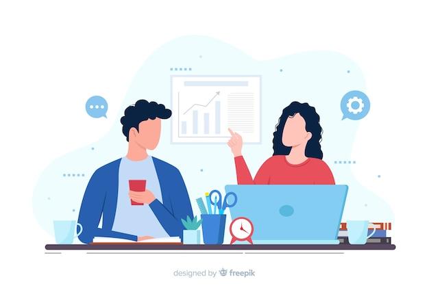 Koncepcja strony docelowej współpracowników