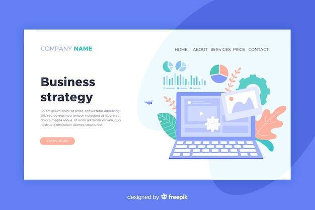 Koncepcja strony docelowej ze strategią biznesową