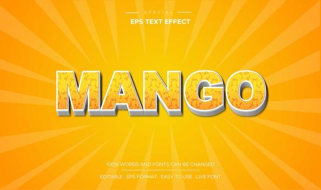 Koncepcja stylu efektu tekstu mango