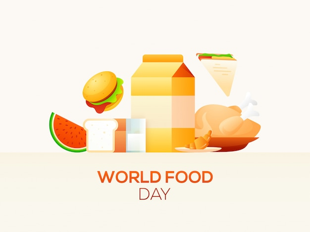 Koncepcja światowego dnia żywności.