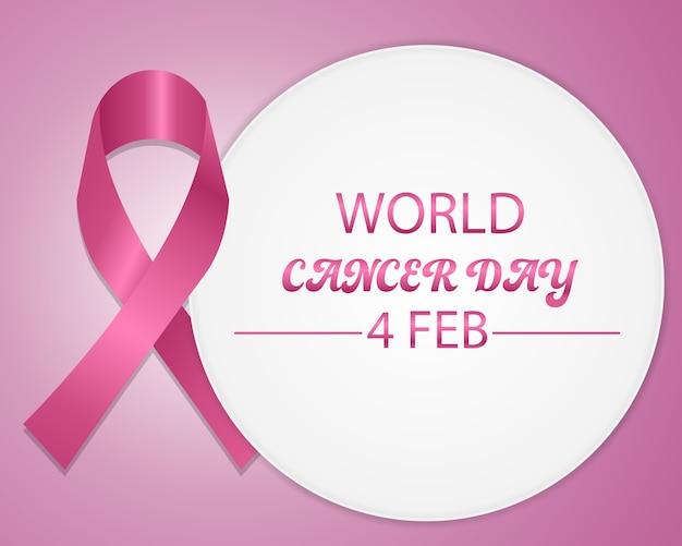 Koncepcja światowy dzień raka z różową wstążką.