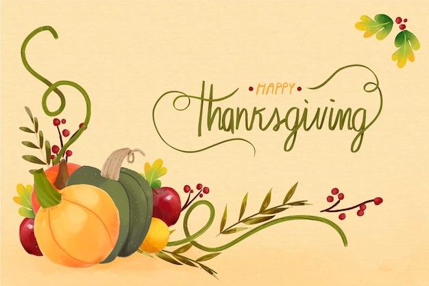 Koncepcja święto dziękczynienia w akwareli