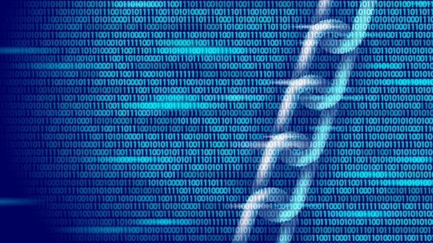 Koncepcja symbol biznesowy blockchain. bezpieczeństwo informacji w sieci połączeń łańcuchowych. . globalny e-handel online