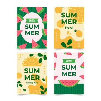 Koncepcja szablon karty lato