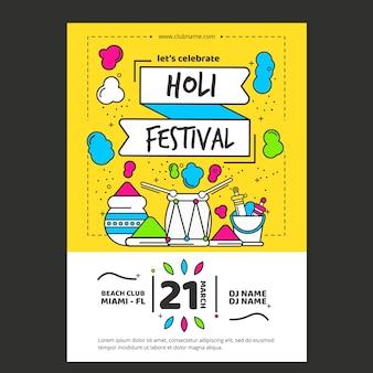 Koncepcja szablon plakat festiwalu holi
