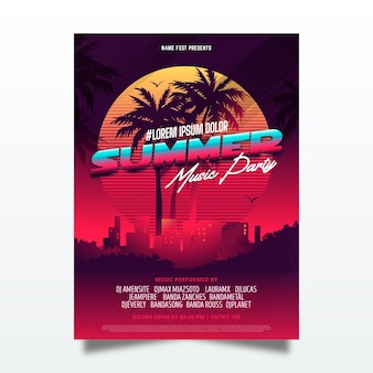 Koncepcja szablon plakat party lato